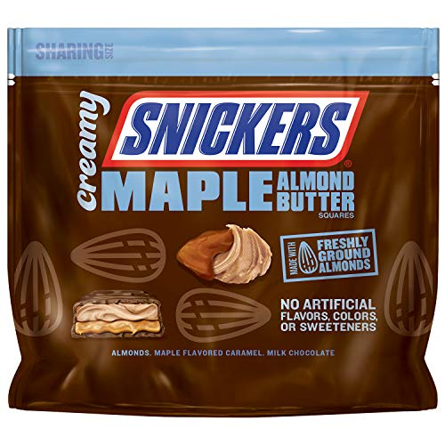 689adec12470 Creamy SNICKERS Maple Almond Butter Fun Size Square Candy Bars, 7.7-Ounce  Bars Bag (Pack of 8)