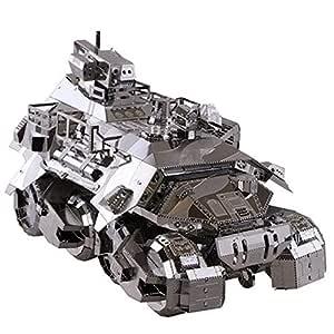 MQKZ Acero pionero Modelo de Juguete de Metal 3D Juguete blindado ...