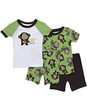 Carter's 4-Piece Cotton - Bananas Over Mommy-12 Months