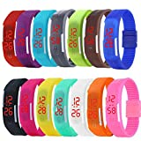 ALPS New Womens mens kids Silicone Band Touch Screen Sports LED Watch Bracelet (14 Pack)