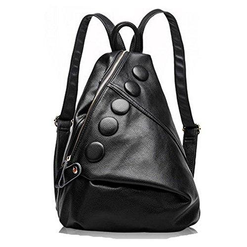 Eysee - Bolso mochila  de Piel para mujer negro