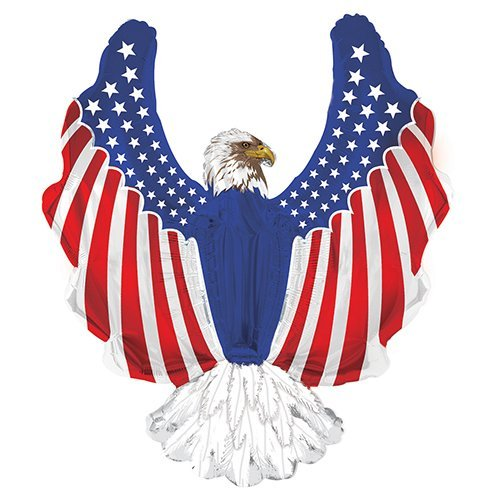 CTI Balloons Foil Balloon 434157 Patriotic Eagle Shape,