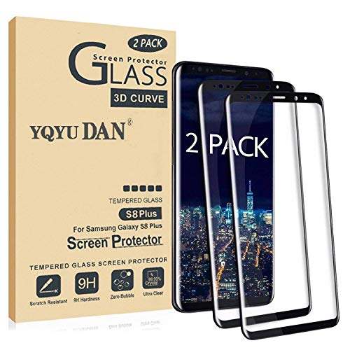 Galaxy S8 Plus Screen Protector,Full Coverage Tempered Glass[2 Pack][3D Curved] [Anti-Scratch][High Definition] Tempered Glass Screen Protector Suitable for Galaxy S8 Plus (NOT S8)