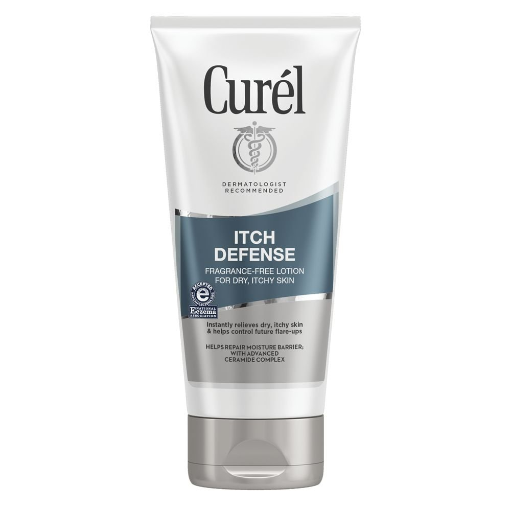 Curél Itch Defense Calming Body Lotion, Moisturizer for Dry, Itchy Skin, Body and Hand Lotion, 6 Ounce, with Advanced Ceramide Complex, Pro-Vitamin B5, Shea Butter