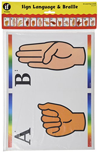 Sign Language Learning Cards with Braille, Carson-Dellosa
