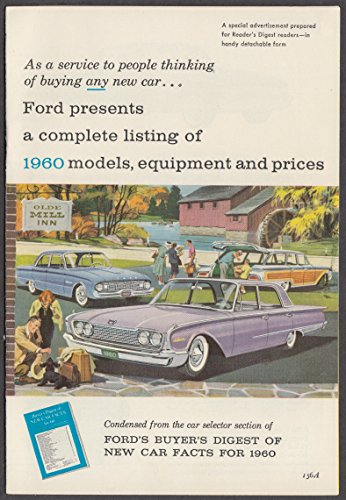 1960 Ford Complete Listing of Models & Equipment booklet w/ Falcon & Thunderbird