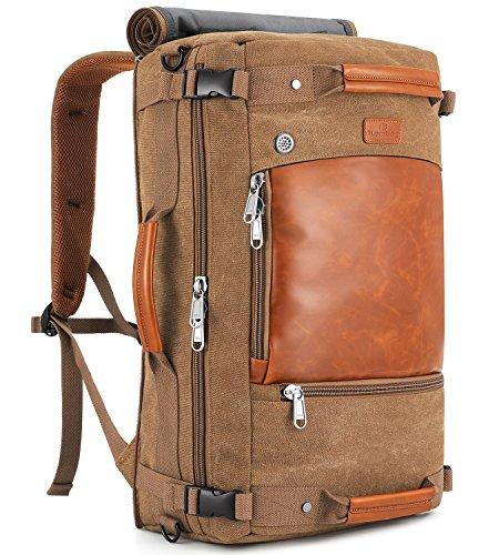 Journey Messenger - Plambag Canvas Travel Duffel Backpack Retro Laptop Messenger Bag Handbag(Coffee)