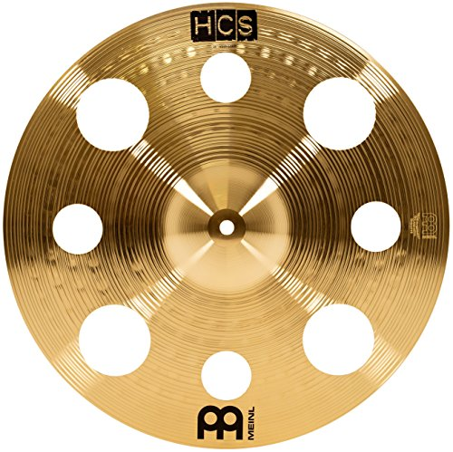"Meinl 16"" Trash Crash Cymbal with Holes - HCS Traditional Finish Brass for Drum Set, Made In Germany, 2-YEAR WARRANTY (HCS16TRC)"