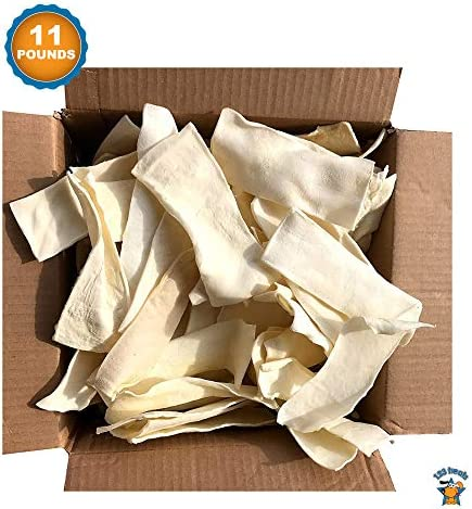 123 Treats – Rawhide Chips Dog Chews 100 All-Natural Grass-Fed Free-Range Beef Hide for Dogs with No Hormones, Additives or Chemicals