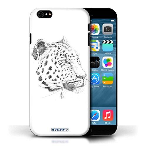 Etui pour Apple iPhone 6/6S / Léopard conception / Collection de Dessin Croquis