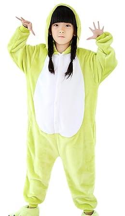 iPerry Children Animal Pajamas Robes Halloween Onesies Costume Frog Cosplay  sc 1 st  Amazon.com & Amazon.com: iPerry Kids Onesie Pajamas Animal Costume Cosplay Frog ...