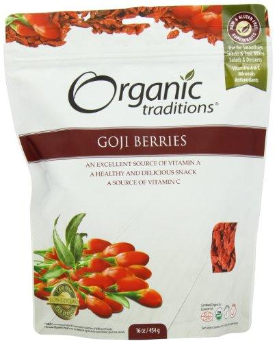 Organic Traditions Goji Berries  16 Ounce