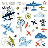 RoomMates RMK2718SCS Zutano Aviation Peel and Stick Wall Decals