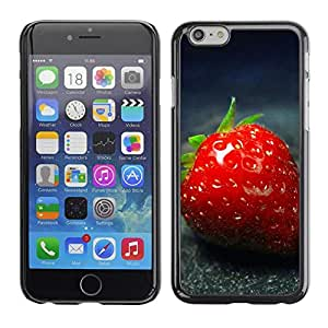 PC/Aluminum Funda Carcasa protectora para Apple Iphone 6 Strawberry / JUSTGO PHONE PROTECTOR