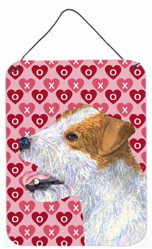 Caroline's Treasures Jack Russell Terrier Hearts Love and Valentine's Day Wall Door Hanging Prints, 16' x 12', Multicolor