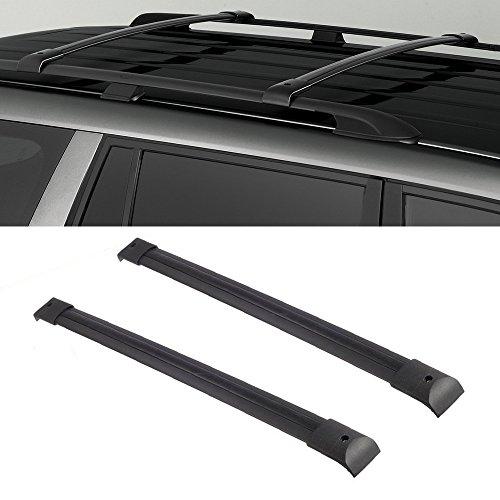Audrfi Black Aluminum Roof Rack Cross Bars for 03-08 Honda Pilot Top Side Rail Cargo Carries