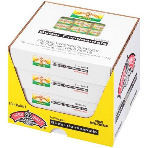 Land O Lakes Club Butter Continentals, 3.33 Pound -- 4 per case. by Land O Lakes