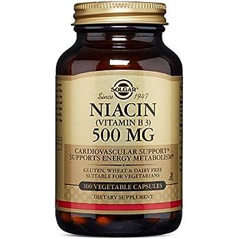 Solgar - Niacin (Vitamin B3) 500 mg, 250 Vegetable Capsules