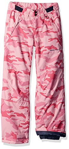 Arctix Youth Snow Pants with Reinforced Knee and Seat, Medium, A Pink Camo