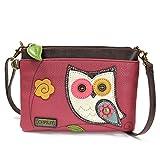 Chala Mini Cross-body Messenger Bag- (Dark Pink-Owl)