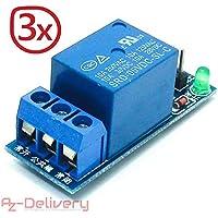 AZDelivery ⭐⭐⭐⭐⭐ 3 x 1-Relais 5V KY-019 Modul Low-Level-Trigger für Arduino