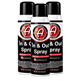 Adam's in and Out Spray - Ultimate Solution for Dressing Those Hard to Reach Areas Around Your Car - Dark - Rich - Longer Lasting Shine (3 Pack)
