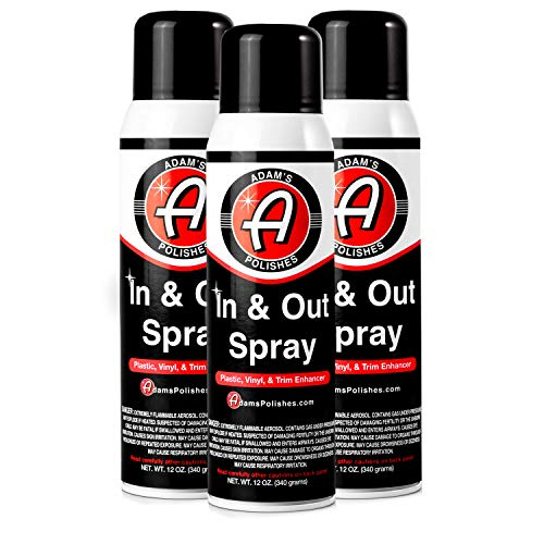 (Adam's in and Out Spray - Ultimate Solution for Dressing Those Hard to Reach Areas Around Your Car - Dark, Rich, Longer Lasting Shine (3 Pack) )