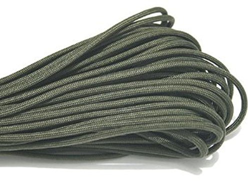 100ft 550 Paracord Parachute Cord Lanyard Mil Spec Type III 7 Strand Core Army Green DeskTopShopping