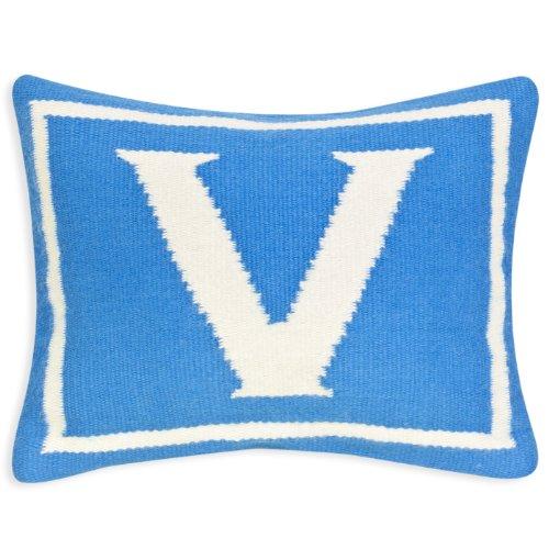 Jonathan Adler Letter Baby Pillow, Blue, Monogrammed - Pillows Baby Monogrammed