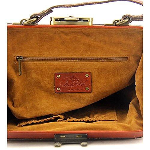 Patricia Nash Italian Leather Gracchi Framed Satchel