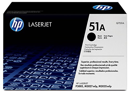HP 51A | Q7551A | Toner Cartridge | Black (Toner For Hp Laserjet P3005)