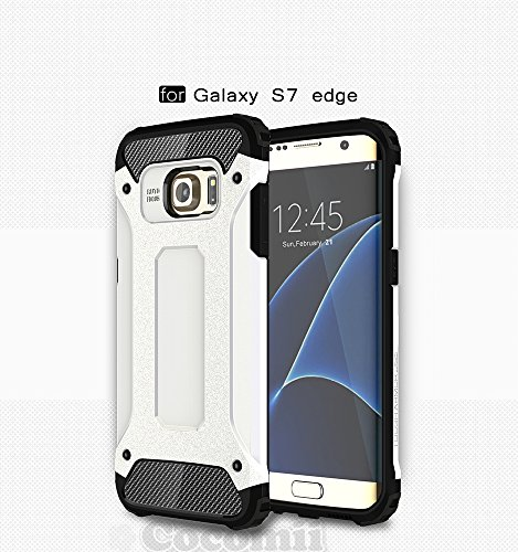 Shockproof Armor Case for Samsung Galaxy S7 Edge (White) - 9