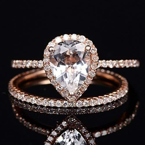 Wedding Ring Diamond Topaz