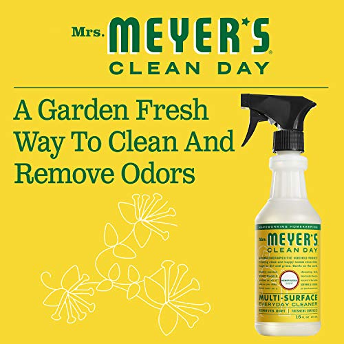 Mrs. Meyer's Clean Day Multi-Surface Everyday Cleaner, Honeysuckle, 16 ounce bottle (Pack of 3)