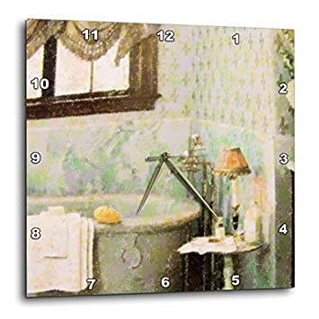 3dRose DPP_21577_3 Victorian Bath Wall Clock, 15 by 15-Inch