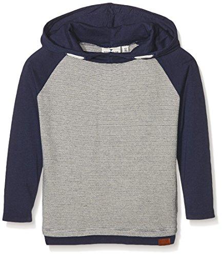 TOM TAILOR Kids Jungen Langarmshirt Hooded T-Shirt, Grau (Original 1000), 110 (Herstellergröße: 104/110)