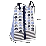 Elephants-BlueGrey-10-pc-Crib-Set-Including-Bumper-Pad