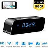 Hidden Camera Clock Mini HD Spy 1080p WiFi Night Vision Remote View Motion Detection Home Security CAM4