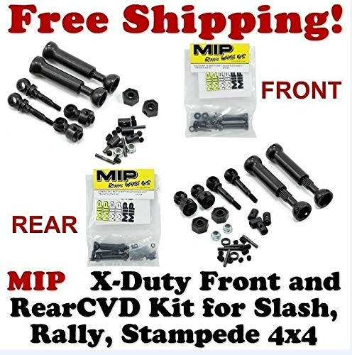 MIP 10130 & 10132 X-Duty Front and Rear CVD Kit Traxxas Slash 4x4 Rally 4x4 Stampede 4X4 ()