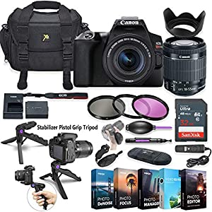 51zLYwEsLCL. SS300  - Canon EOS Rebel SL3 DSLR Camera with 18-55mm Lens + 5 Photo/Video Editing Software Package & Accessory Kit