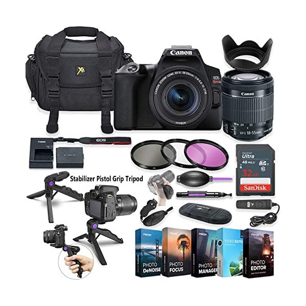 51zLYwEsLCL. SS600 - Canon EOS Rebel SL3 DSLR Camera with 18-55mm Lens + 5 Photo/Video Editing Software Package & Accessory Kit