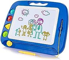 SGILE Pizarra Magnética Infantil, 42x32cm Grande Magnético Pintura de la Escritura Doodle Sketch Pad, Juguetes para Niños...