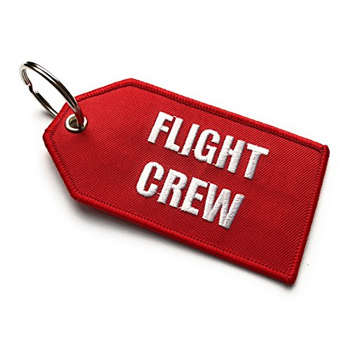 Flight Crew / Do Not Remove From Aircraft Luggage Tag   Medium   Red / White   aviamart
