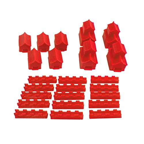Ten Talents Trading Co. Build3D Replacement Pieces for Settlers of Catan - Empire Themed - Chinese Empire - Single Player - Red - Replacement Board Game Pieces - Updated Color