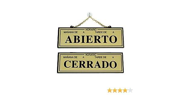 Rotulauto - Placa Abierto-Cerrado Con Horario 109