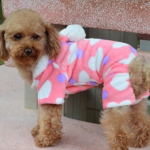 Product image of HP95(TM) Pet Small Dog Hoody Sweater, Pet Puppy Dog Cat Clothes Hoodie Coat Jumpsuit Costume Apparel (Pink, S)