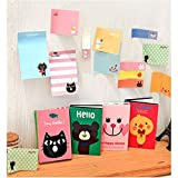 ARCTURUS 4PCS Cute Animals Sticker Post It Bookmark Point Marker Memo Flags Sticky Note