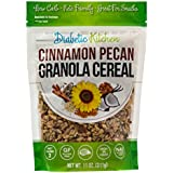 Diabetiker Kitchen Cinnamon Pecan Granola Cereal, 3g Net Carbs, No Sugar Added, Keto Friendly, Low Carb, Gluten-Free, High Fiber, Non-GMO, No Artificial Sweeteners or Sugar Alcohols Ever (11 oz)