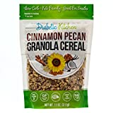 Diabetic Kitchen Cinnamon Pecan Granola Cereal, 3g Net Carbs, No Sugar Added, Keto Friendly, Low Carb, Gluten-Free, High Fiber, Non-GMO, No Artificial Sweeteners or Sugar Alcohols Ever (11 oz) For Sale