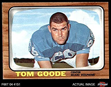 the best attitude d3194 d56e1 Amazon.com: 1966 Topps # 78 Tom Goode Miami Dolphins ...